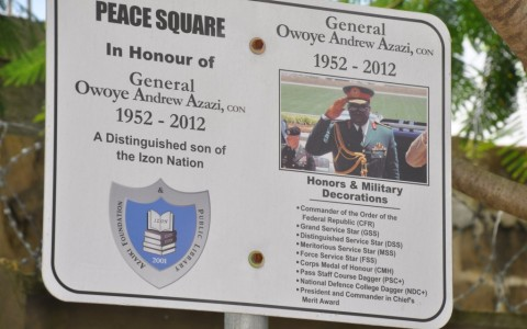 Unveiling of Street Sign in Honour of Late General Owoye Andrew Azazi CFR FSS MSS DSS GSS psc fwc